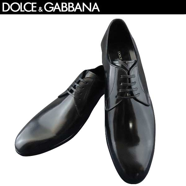 ドルチェ&ガッバーナ DOLCE&GABBANA メンズ プレーントゥ レザーシューズ 靴 A10086 AC460 80999 NERO 71S【送料無料】【smtb-TK】