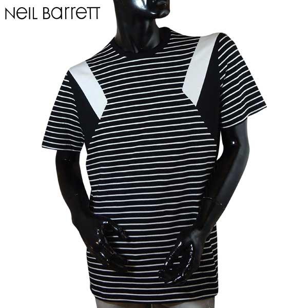 【送料無料】 ニールバレット (NeilBarrett) メンズ クルーネック 半袖 Tシャツ PBJT181B E517C 524 【smtb-TK】 71S