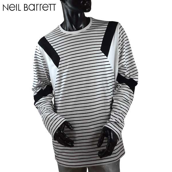 ニールバレット Neil Barrett メンズ クルーネック 長袖 Tシャツ ロンT PBJT179B E517C 526 71S【送料無料】【smtb-TK】