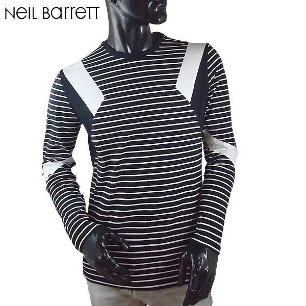 ニールバレット Neil Barrett メンズ クルーネック 長袖 Tシャツ ロンT PBJT179B E517C 524 71S【送料無料】【smtb-TK】