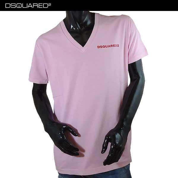 ディースクエアード DSQUARED2 メンズ Vネック 半袖 Tシャツ S74GD0203 S20694 242 71S【送料無料】【smtb-TK】