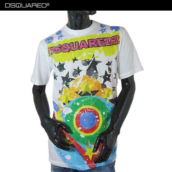 ディースクエアード DSQUARED2 メンズ クルーネック 半袖 Tシャツ S74GD0207 S22507 100 71S (R39000)【送料無料】【smtb-TK】