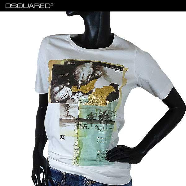 ディースクエアード DSQUARED2 レディース 半袖 Tシャツ S75GC0836 S22844 100 71S (R23000)【送料無料】【smtb-TK】
