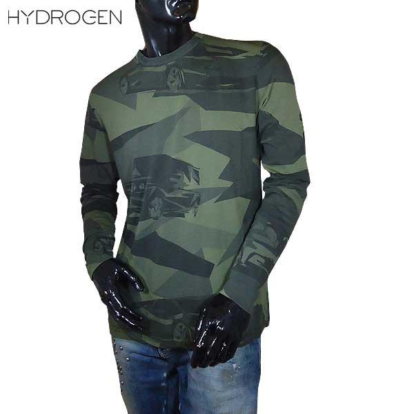 ハイドロゲン HYDROGEN LUXURY SPORTSWEAR メンズ ロング Tシャツ 長袖 200012 A60 71S【送料無料】【smtb-TK】