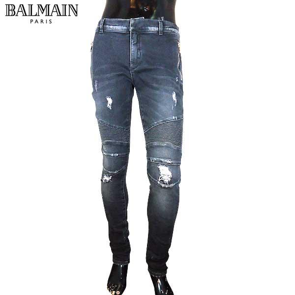 【送料無料】 バルマン(BALMAIN) メンズ ライダースパンツ スキニー ジーンズ S7H9528 T097 176 【smtb-TK】 71S