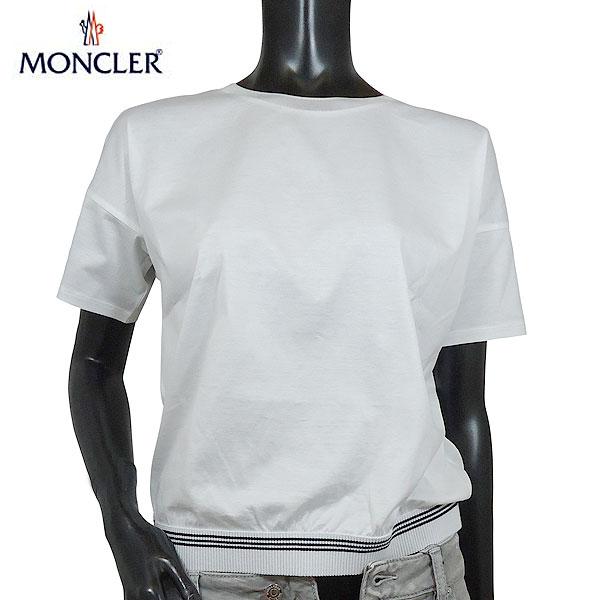 モンクレール MONCLER レディース ラウンドネック 半袖 Tシャツ カットソー 8067000 8390X 001 71S【送料無料】【smtb-TK】