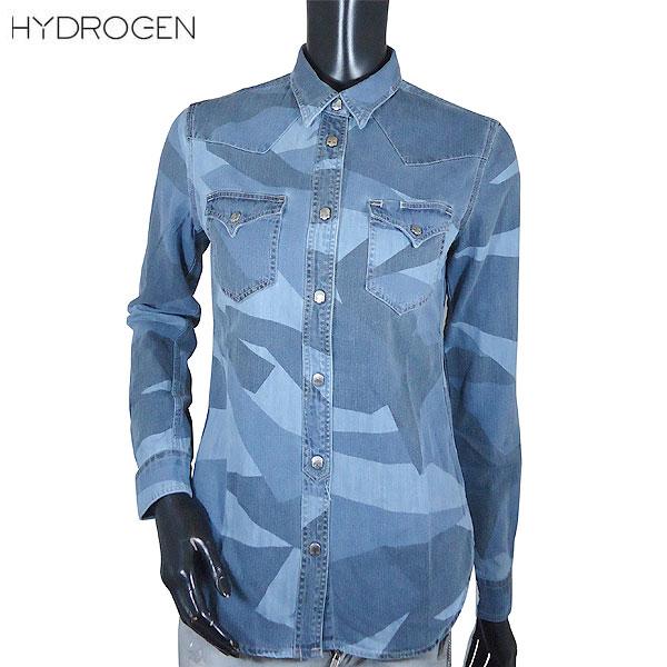 ハイドロゲン HYDROGEN レディース コットン カジュアルシャツ 201524 474 71S (R49680)【送料無料】【smtb-TK】