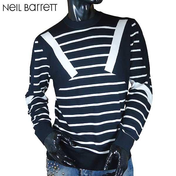 【送料無料】 ニールバレット (NeilBarrett) メンズ 長袖カットソー ニット PBMA570B E610C 052 【smtb-TK】 71S