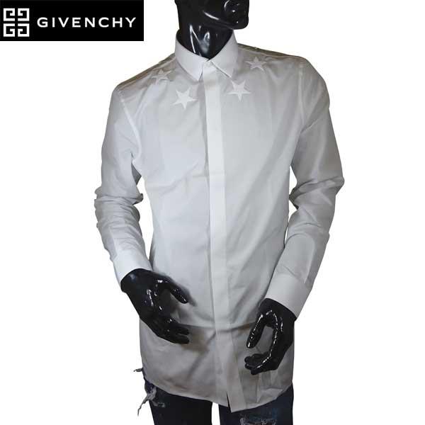 ジバンシー GIVENCHY メンズ スターデザイン ドレスシャツ 6061 300 100 71S【送料無料】【smtb-TK】