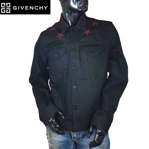 ジバンシー GIVENCHY メンズ アウター ジャケット ロゴ レッドスターロゴパッチ付きジャケット 黒 0907 461 001 71S (R143200)【送料無料】【smtb-TK】