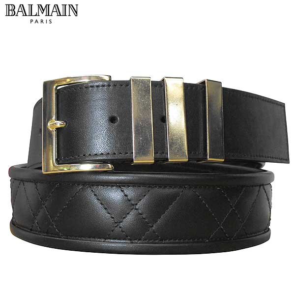 バルマン BALMAIN メンズ 小物 ベルト レザーベルト ブラック S7HA103 P037 176 71S (R64800) 【送料無料】【smtb-TK】
