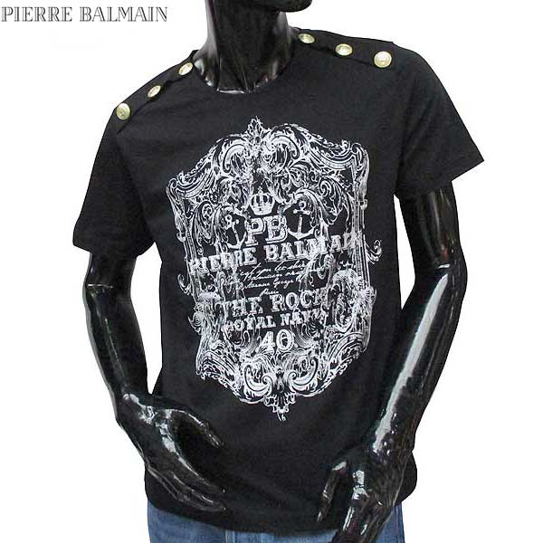 ピエールバルマン Pierre Balmain メンズ クルーネック 半袖 Tシャツ HP66215T A6285 905 71S【送料無料】【smtb-TK】