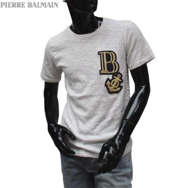 【送料無料】 ピエール・バルマン(Pierre Balmain) メンズ クルーネック 半袖 Tシャツ HP66218T 16289 003 【smtb-TK】 71S
