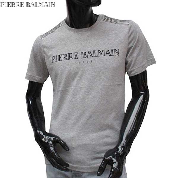 【送料無料】 ピエール・バルマン(Pierre Balmain) メンズ クルーネック 半袖 Tシャツ HP66205T A6284 840 【smtb-TK】 71S