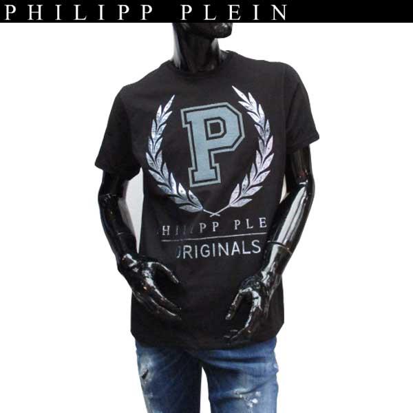 フィリッププレイン PHILIPP PLEIN メンズ ラウンドネック 半袖 Tシャツ