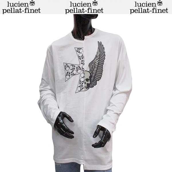 ルシアン ペラフィネ lucien pellat-finet メンズ スカル ロング Tシャツ 長袖 カットソー EVH1934 WHITE 71S【送料無料】【smtb-TK】