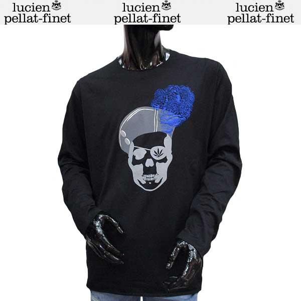 ルシアン ペラフィネ lucien pellat-finet メンズ スカル ロング Tシャツ 長袖 カットソー EVH1913 BLACK 71S【送料無料】【smtb-TK】