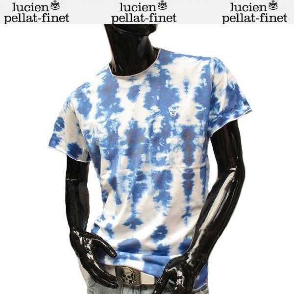 ルシアン ペラフィネ lucien pellat-finet メンズ クルーネック スカル 半袖 Tシャツ EVH1939 WHITE/NAVY 71S (R69800)【送料無料】【smtb-TK】