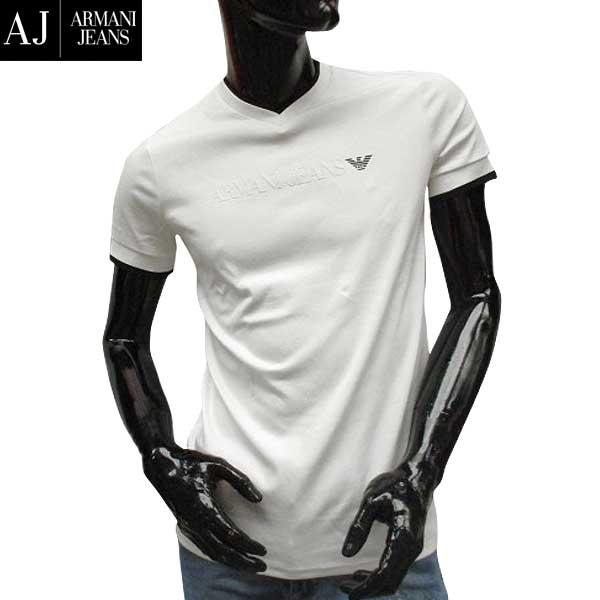 【送料無料】 アルマーニジーンズ(ARMANI-JEANS) メンズ Vネック 半袖 Tシャツ 3Y6T30 6JPRZ 1100 【smtb-TK】 71S