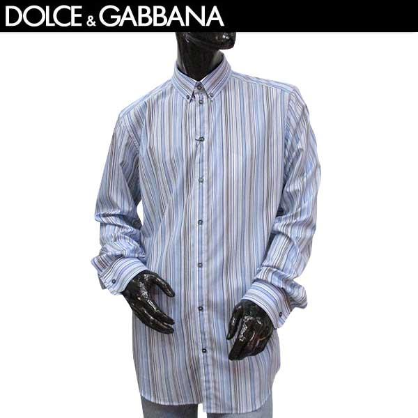 ドルチェ&ガッバーナ DOLCE&GABBANA メンズ ストライプ ボタンダウンシャツ 長袖ワイシャツ G5EB3T FR5VM S8051 71S【送料無料】【smtb-TK】