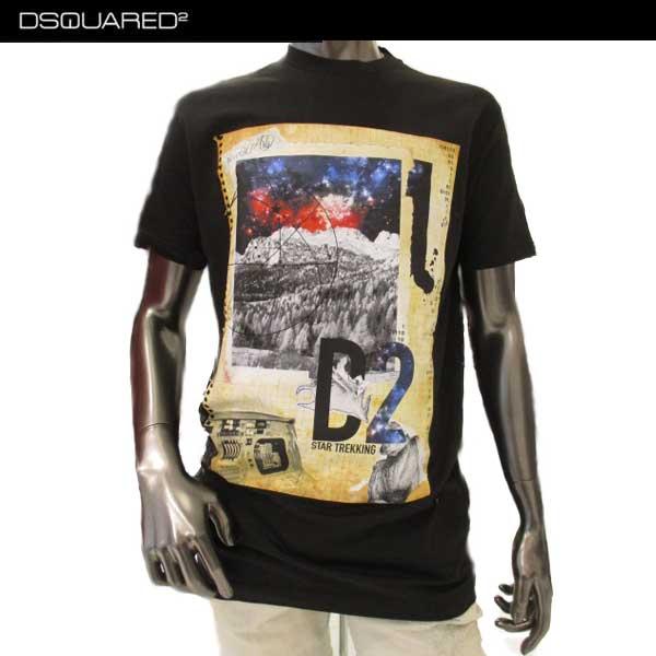 ディースクエアード DSQUARED2 メンズ クルーネック 半袖 Tシャツ S74GD0285 S22427 900 71A (R31320)【送料無料】【smtb-TK】