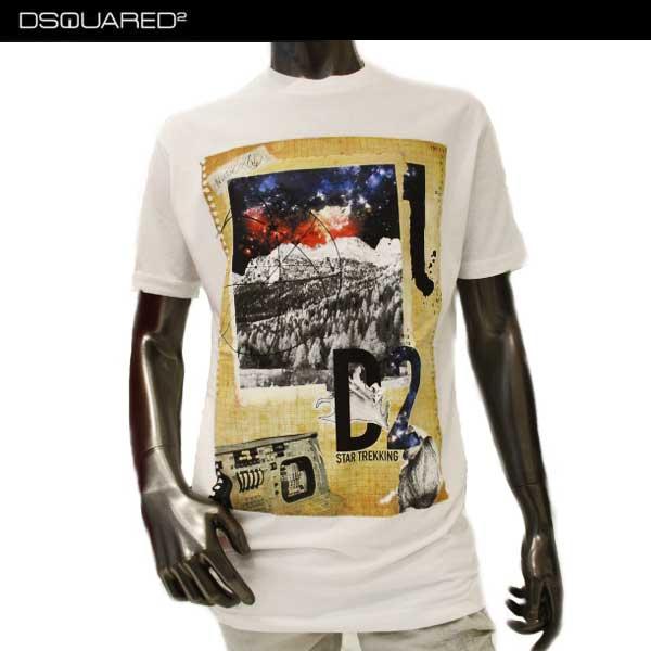 【送料無料】ディースクエアード(DSQUARED2) メンズ クルーネック 半袖 Tシャツ S74GD0285 S22427 100 【smtb-TK】 71A