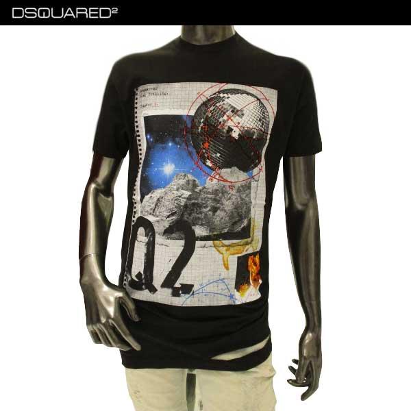 【送料無料】 ディースクエアード(DSQUARED2) メンズ クルーネック 半袖 Tシャツ S74GD0286 S22427 900 【smtb-TK】 71A