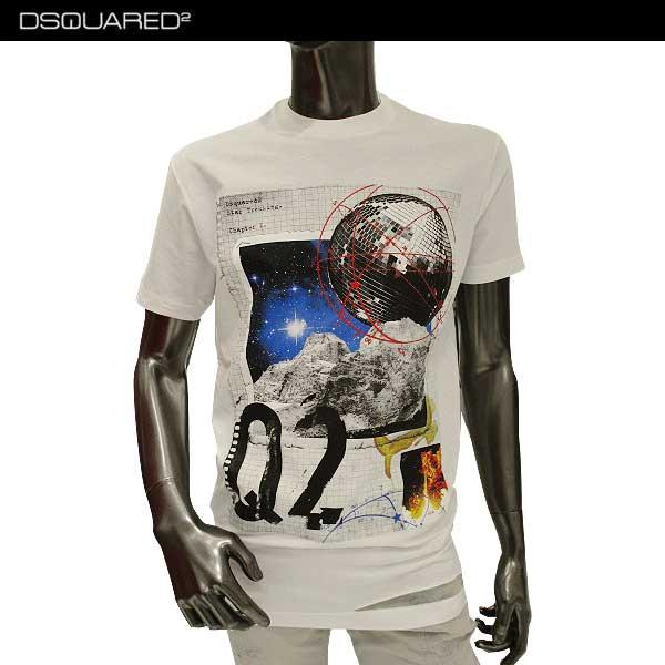 【送料無料】 ディースクエアード(DSQUARED2) メンズ クルーネック 半袖 Tシャツ S74GD0286 S22427 100 【smtb-TK】 71A