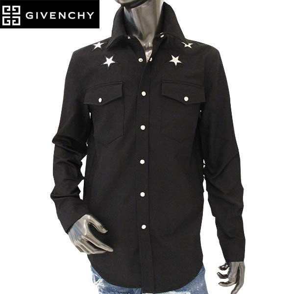 【送料無料】 ジバンシー(GIVENCHY) メンズ スターパッチ デザインシャツ0907 463 001 【smtb-tk】