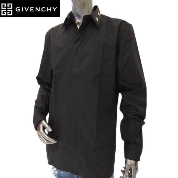 ジバンシー GIVENCHY メンズ スターデザイン ドレスシャツ6217 300 001 (R71100)【送料無料】【smtb-TK】