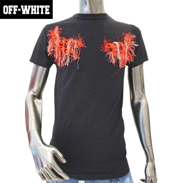 オフホワイト OFF-WHITE メンズ クルーネック 半袖 Tシャツ OMAA014S17 185017 1001 71A【送料無料】【smtb-TK】