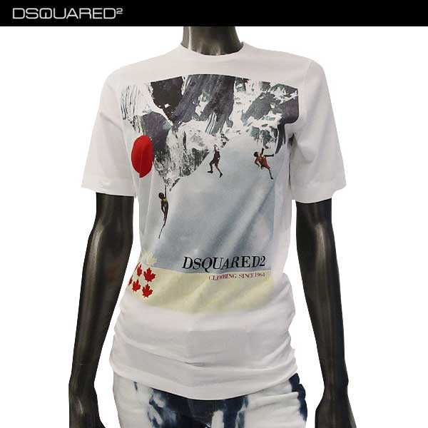 ディースクエアード DSQUARED2 レディース クルーネック 半袖 Tシャツ S75GC0859 S22844 100 (R27000)【送料無料】【smtb-TK】