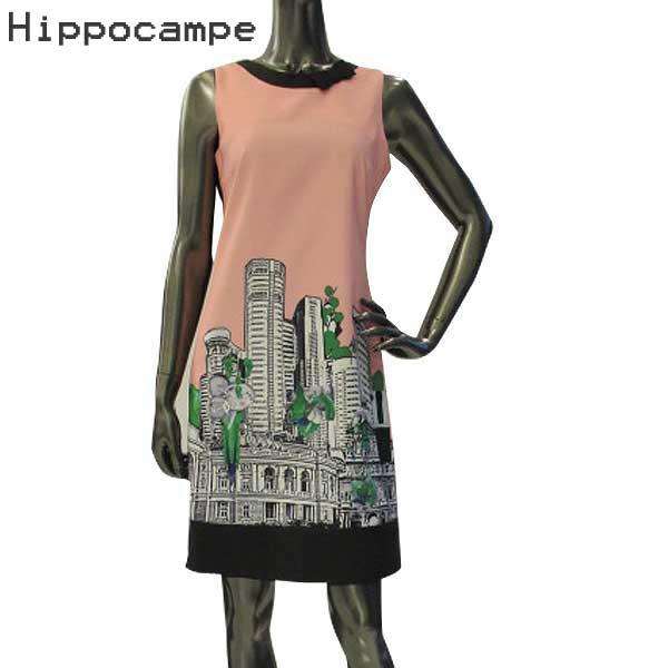 イッポカンプ Hippocampe レディース ノースリーブワンピース S17177-A-HA-29 PINK 【送料無料】【smtb-TK】