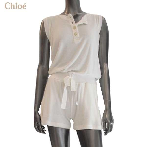 クロエ Chloe レディース ノースリーブTシャツ ハーフパンツ セットアップ N50 9605 1200 12S【送料無料】【smtb-TK】