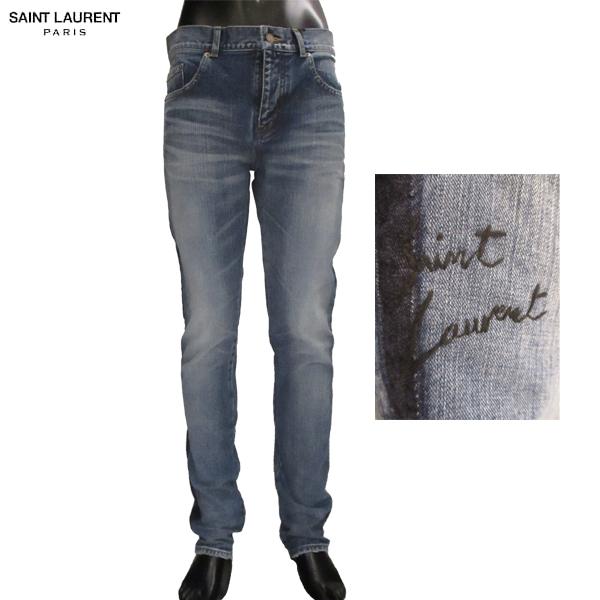 【送料無料】 サンローラン パリ(SAINT LAURENT PARIS) メンズ スリム デニム ジーパン 483062 Y896M 4302 【smtb-tk】