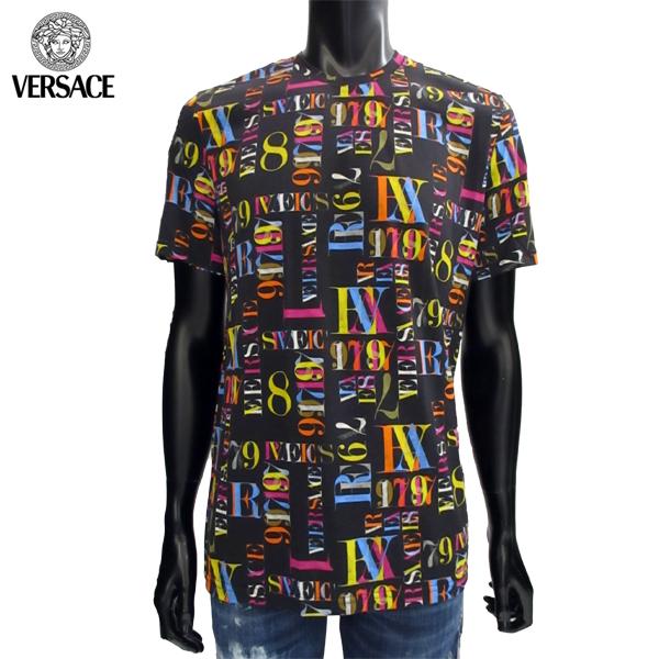ヴェルサーチ Versace メンズ クルーネック 半袖 Tシャツ ABU08014 AC00265 A707 71A【送料無料】【smtb-TK】