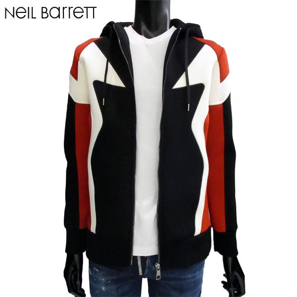ニールバレット Neil Barrett メンズ ジップアップ パーカー BJS284V F563C 1136 71A【送料無料】【smtb-TK】