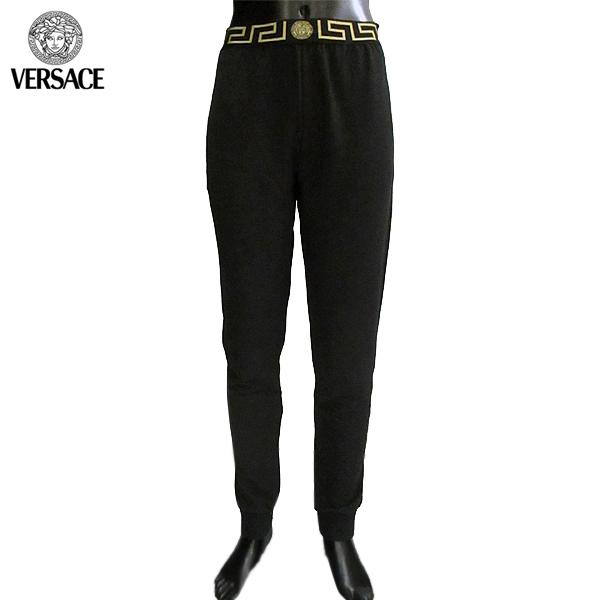 ヴェルサーチ Versace メンズ スウェット パンツ グレカ柄 チャコールグレー AUU02010 AV00136 A80G 71A【送料無料】【smtb-TK】