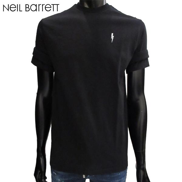【送料無料】 ニールバレット (NeilBarrett) メンズ クルーネック 半袖 Tシャツ BJT300C F501P 01 【smtb-tk】 71A