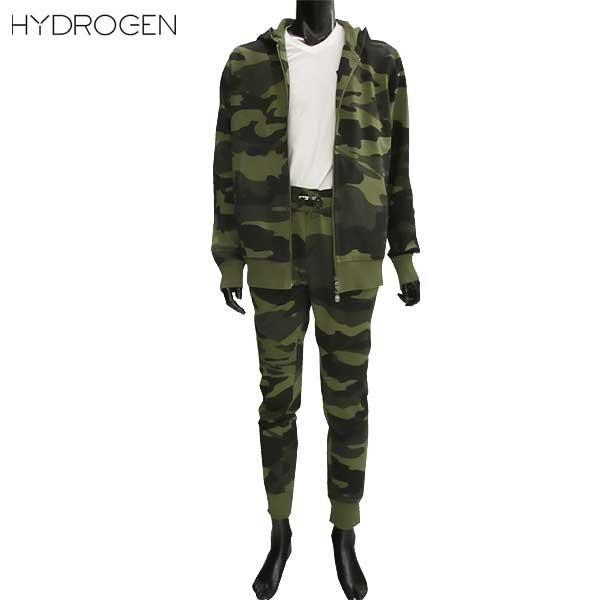ハイドロゲン HYDROGEN メンズ パーカー スウェット パンツ セットアップ 上下組 214006 + 210008 A60 71A【送料無料】【smtb-TK】