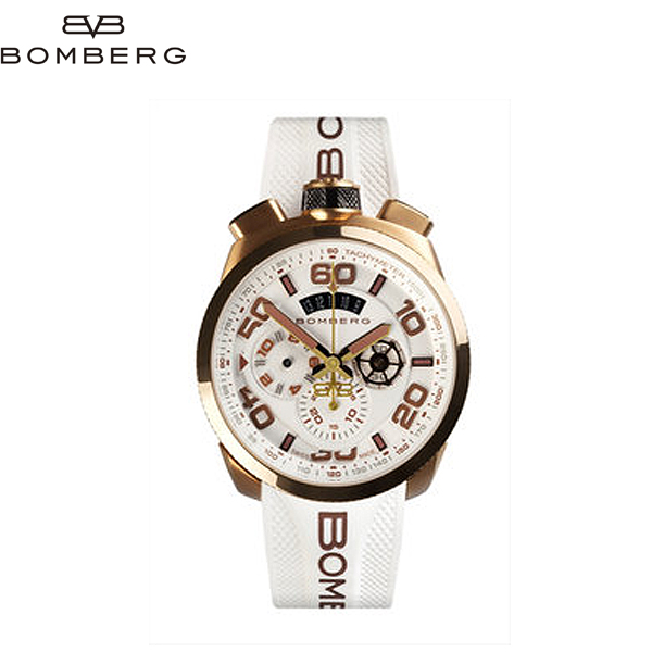ボンバーグ BOMBERG クォーツクロノ ネオン 腕時計 BS45CHPG 0323 WH 71A (R128001) 【送料無料】【smtb-TK】