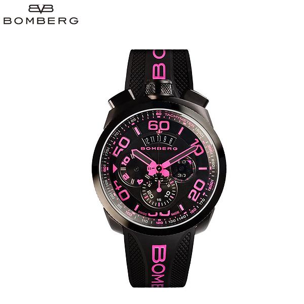 ボンバーグ BOMBERG クォーツクロノ ネオン 懐中時計 キーホルダー ピンク 黒 ブラック  腕時計 BS45CHPBA 031 3 71A (R180792) 【送料無料】【smtb-TK】