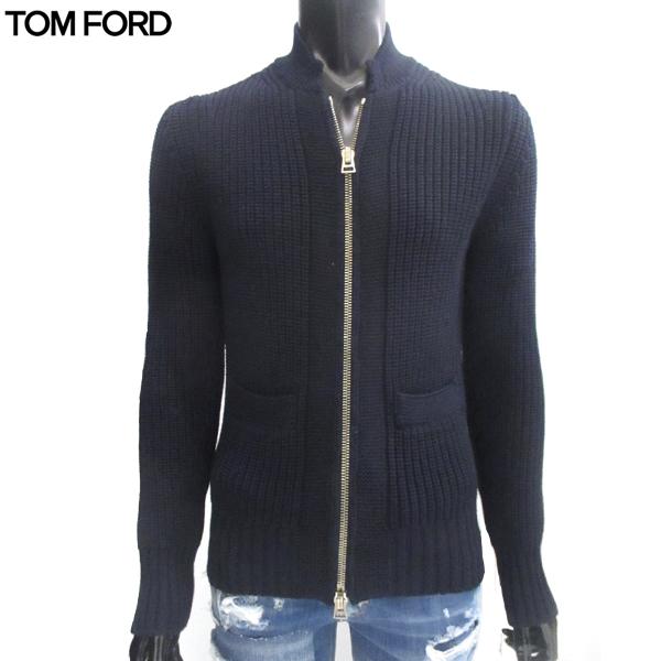 トムフォード TOM FORD メンズ ジップアップ ニット BHM52-TFK157-B09 81S【送料無料】【smtb-TK】