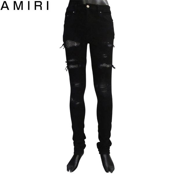 【送料無料】 アミリ (AMIRI) メンズ クラッシュデニム ジーンズ MBDES CRYBLK BLACK 【smtb-tk】 81S
