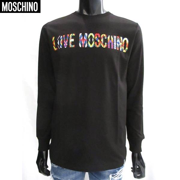 【送料無料】 モスキーノ(Moschino) メンズ ロング 長袖 Tシャツ ロンT SW1238104 08 【smtb-tk】 81S