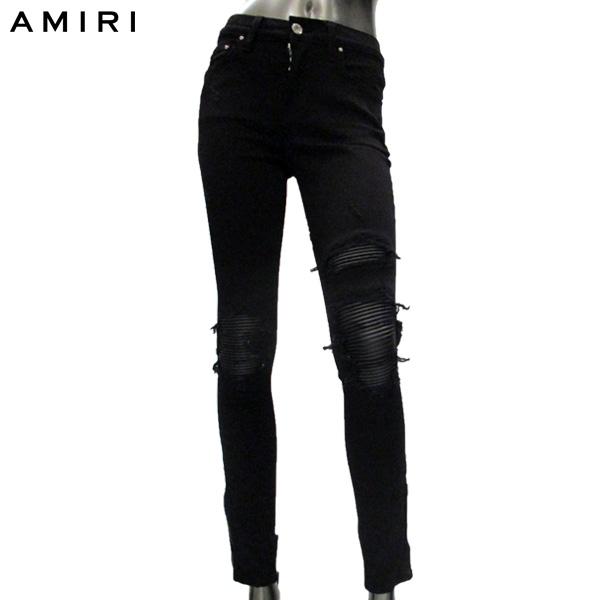 アミリ AMIRI レディース パンツ デザイン ダメージ WBMX1-LTH BLACK 81S【送料無料】【smtb-TK】