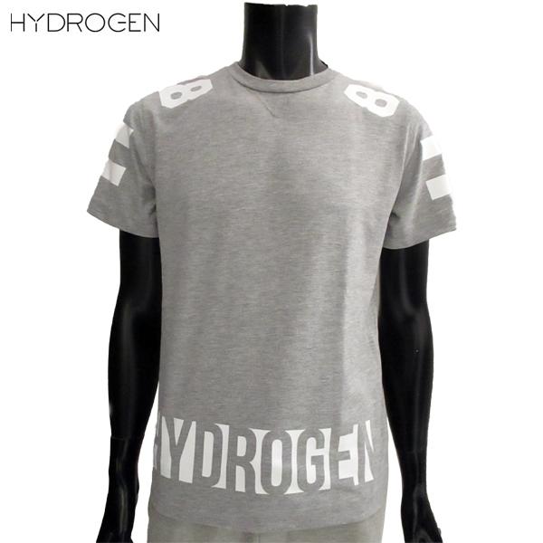 【送料無料】 ハイドロゲン (HYDROGEN) メンズ Tシャツ 半袖 丸首 グレー ホワイト 8 220608 015 【smtb-tk】 81S