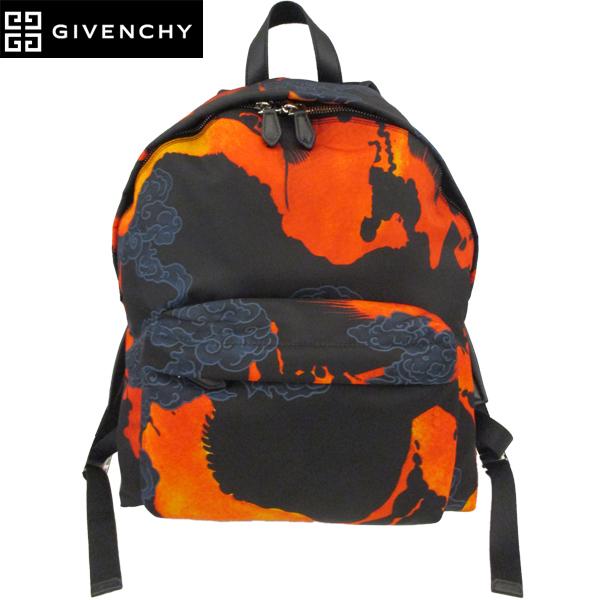 【送料無料】 ジバンシー (GIVENCHY) バックパック リュック オレンジ ブラック BK500G K02G 960 【smtb-tk】 81S