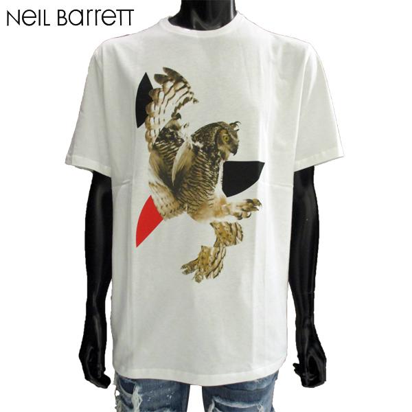 【送料無料】 ニールバレット (NeilBarrett) メンズ 丸首 半袖 Tシャツ 鷲柄 BJT182AE 522S 1141 【smtb-tk】 81S