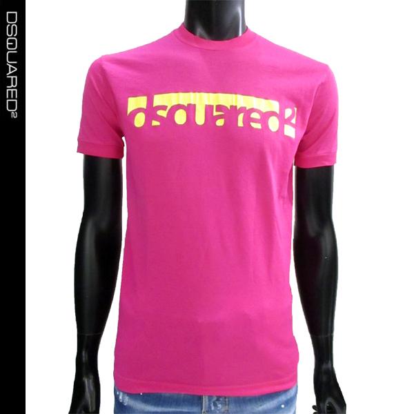 ディースクエアード DSQUARED2 ユニセックス Tシャツ ピンク カジュアル コットン S71GD0648 S22427 244 81S (R27000)【送料無料】【smtb-TK】